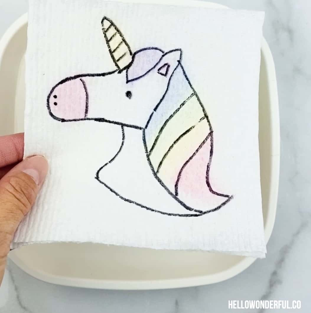 Unicorn Magic Paper Towel Art