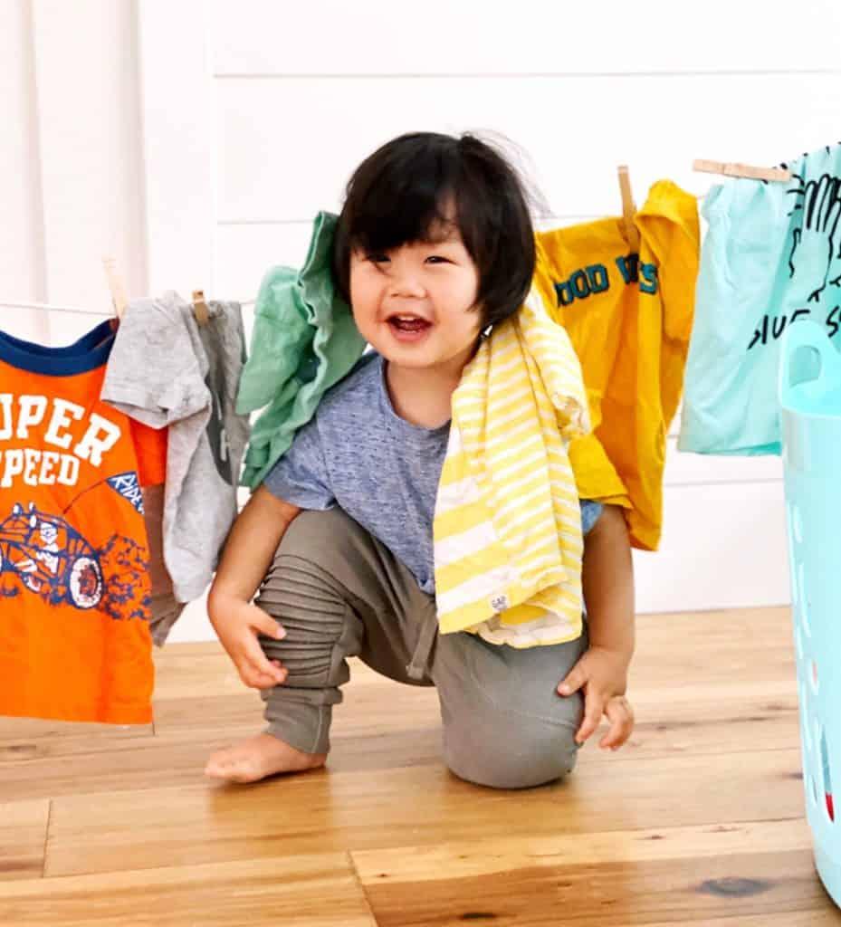 Laundry Preschool Activity. Great practical life skills and fine motor activity.