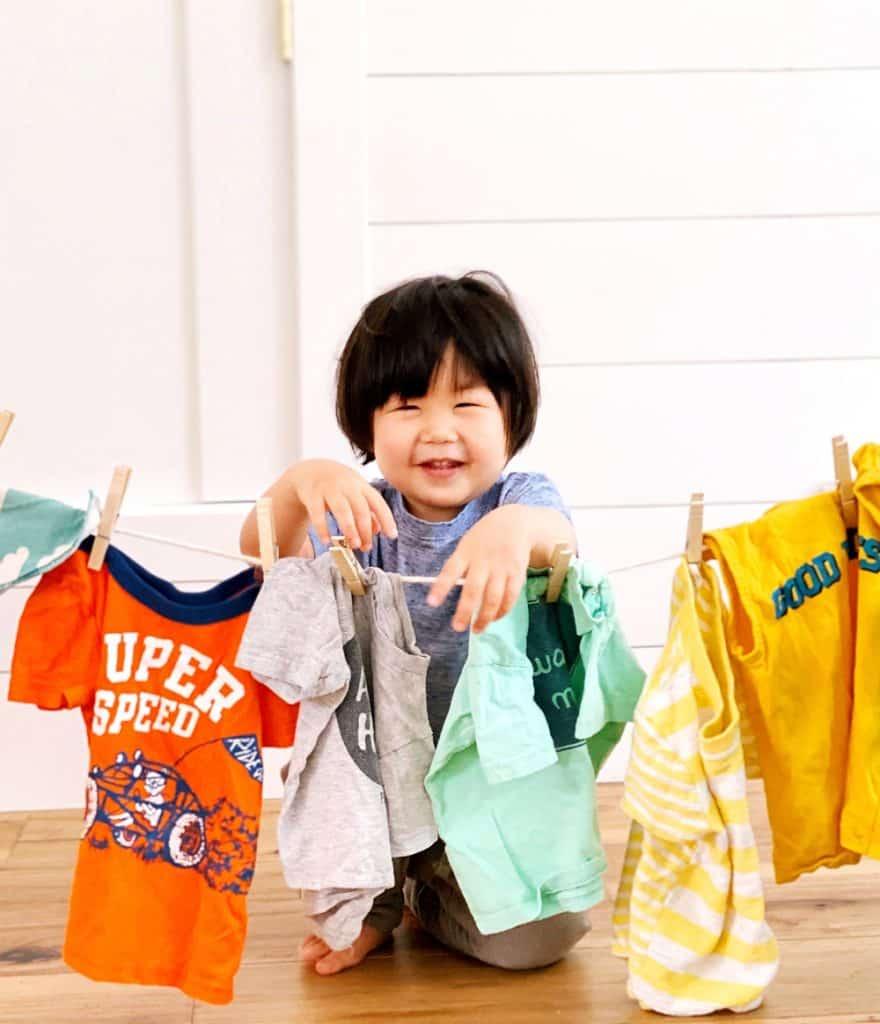 Laundry Preschool chores activity