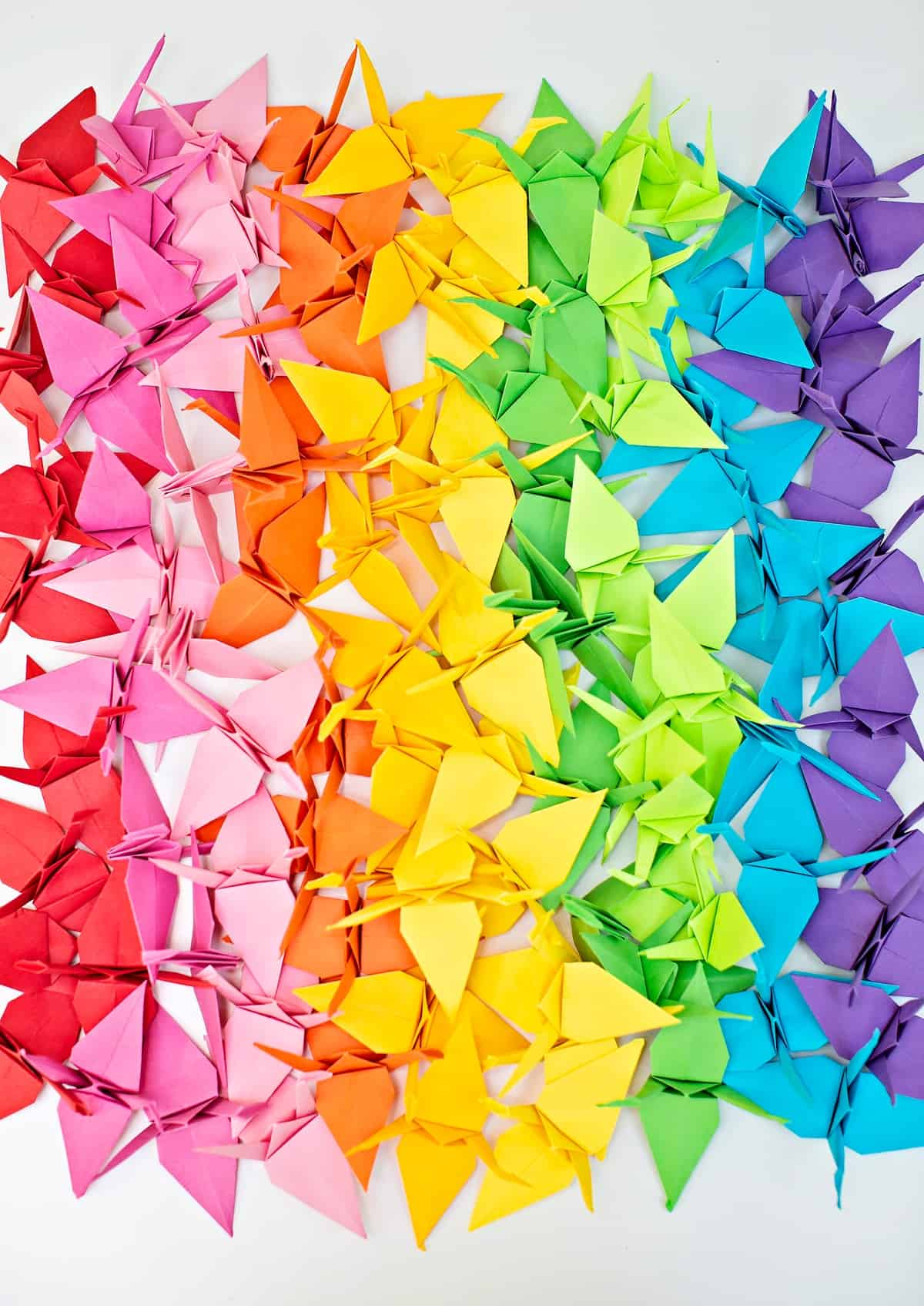 One million paper cranes project. Community project to show love and support during the coronavirus pandemic.