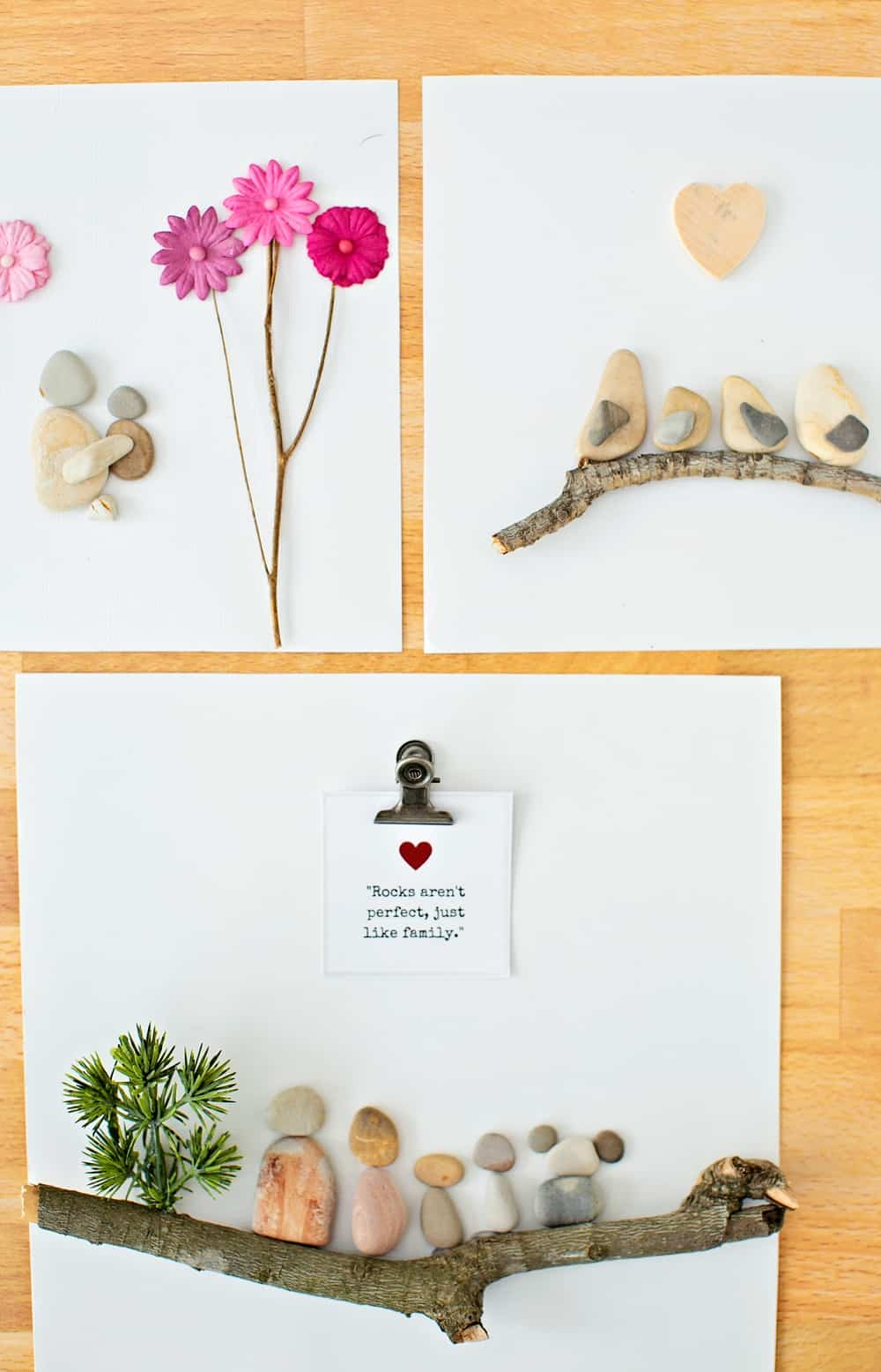 How to make pebble rock art great for handmade mother's day gift