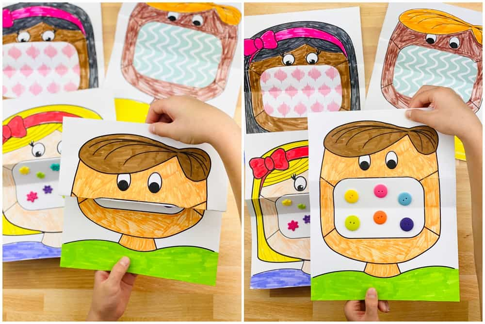 free printable mask coloring art for kids