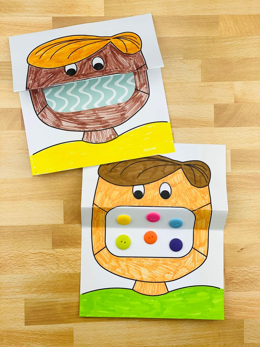 get this fun free printable mask coloring template for kids to color in