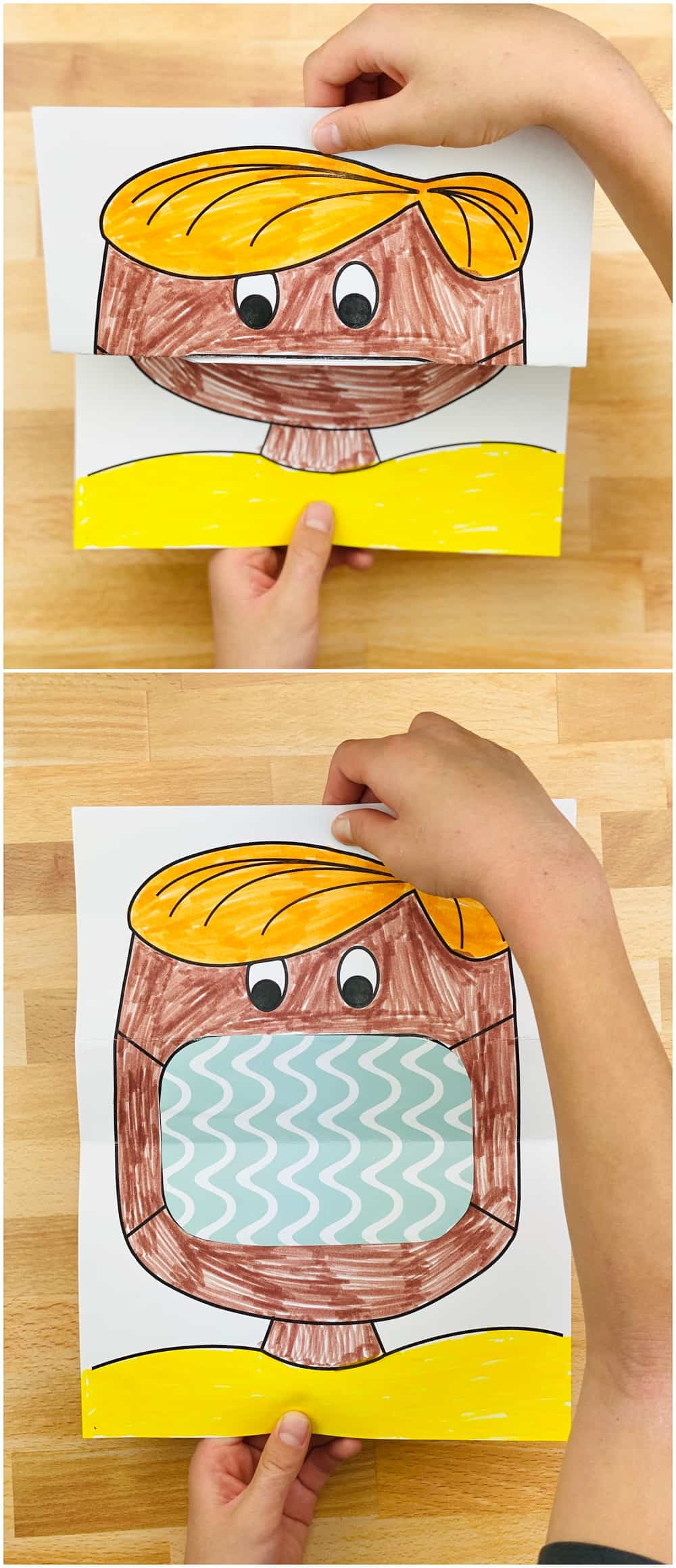 coloring art project for kids, filling in mask to decorate