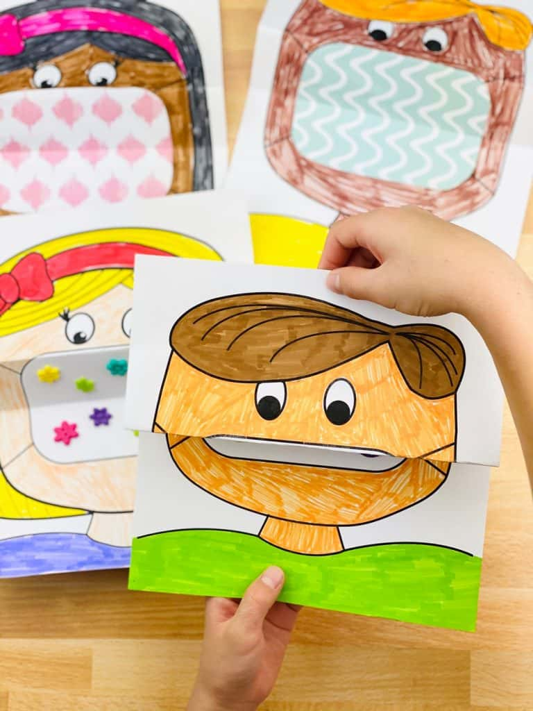 mask coloring art for kids
