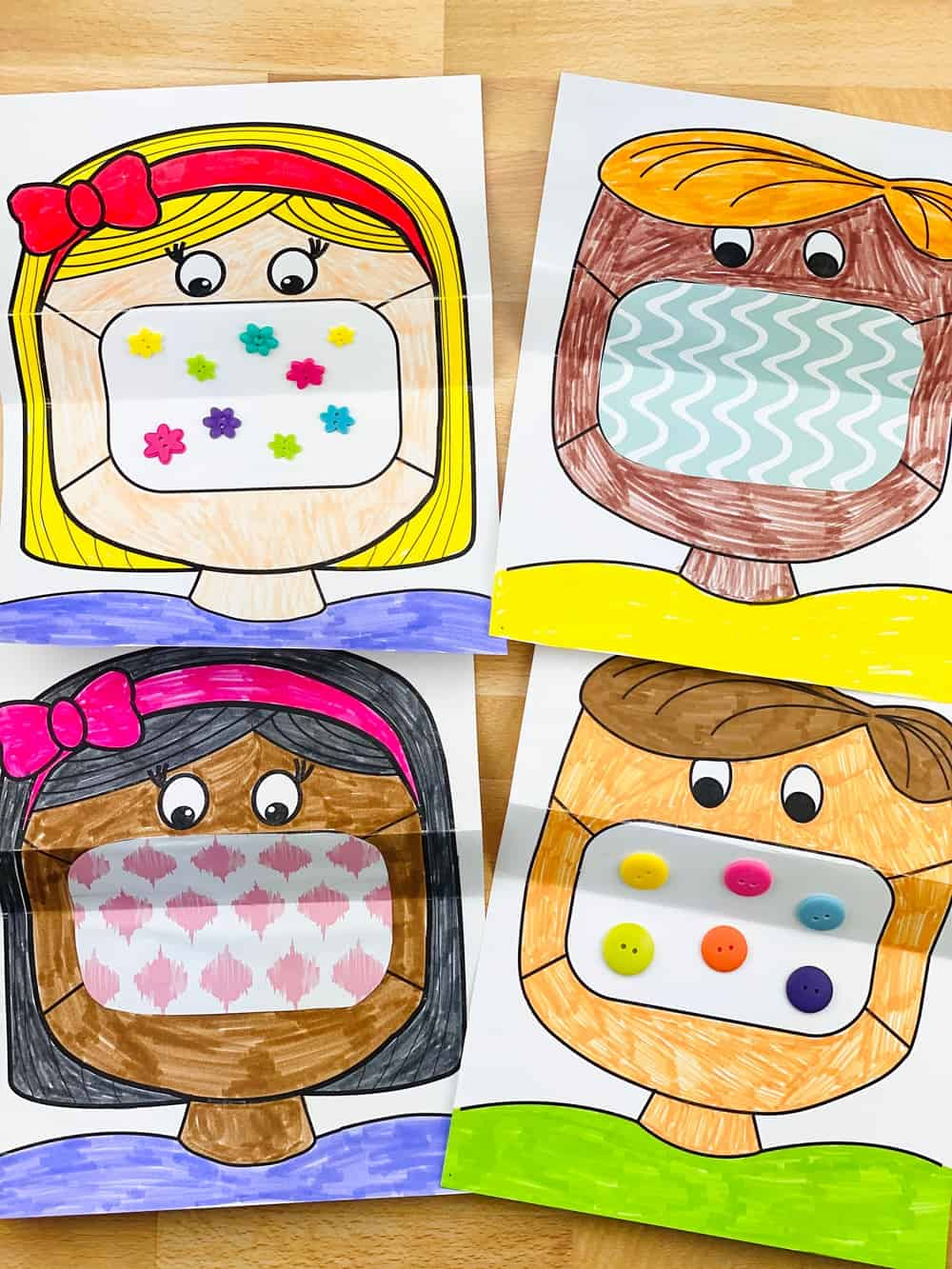 Mask Coloring Art For Kids Hello Wonderful