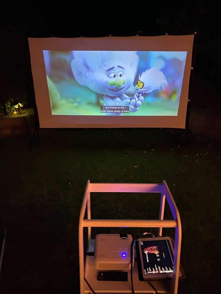 movie projector for outdoor movie
