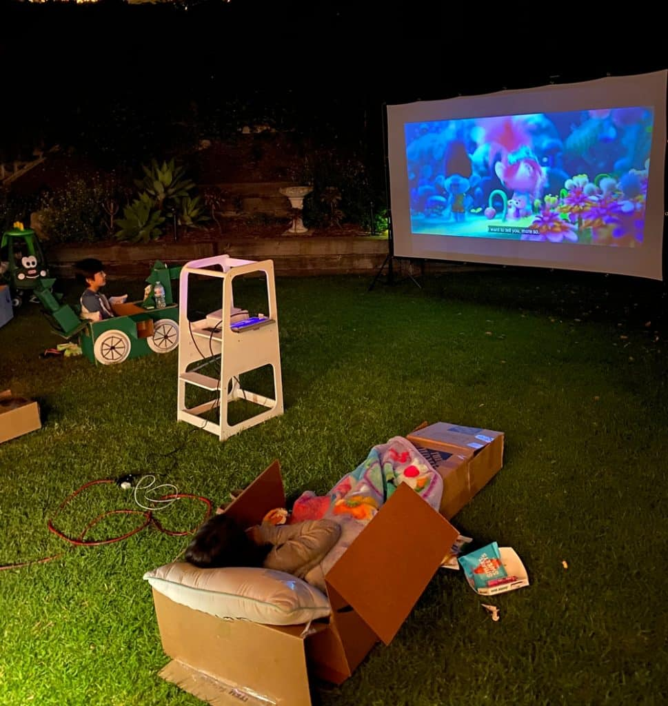 outdoor movie night drive through theater