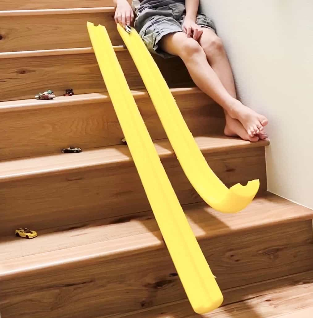 curved pool noodles to make car ramps