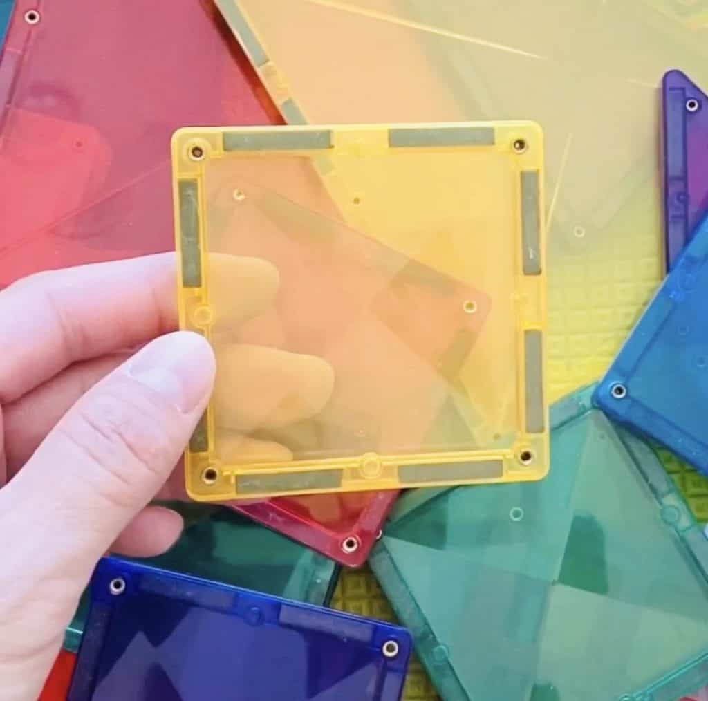 magnetic tile toys for kids made by Connetix Tiles