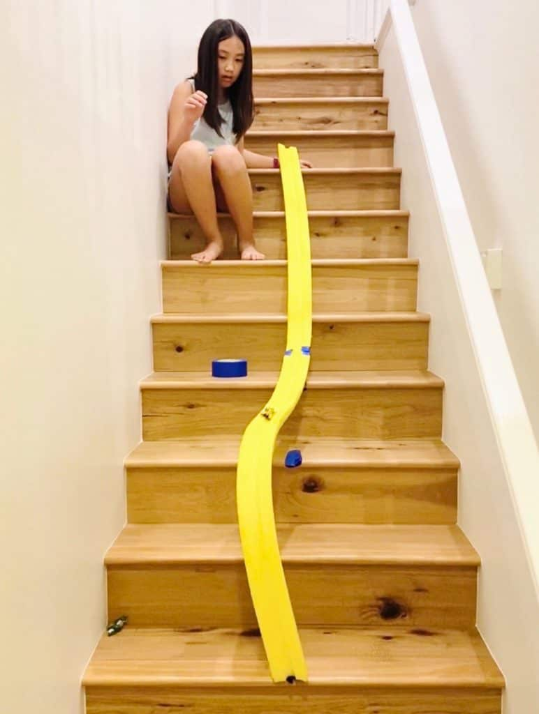 how to make a car ramp out of a pool noodle