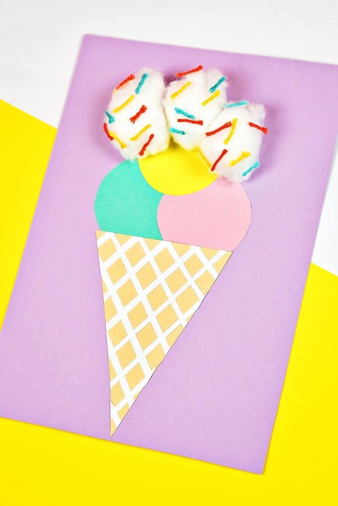 Cotton Ball Ice Cream Craft