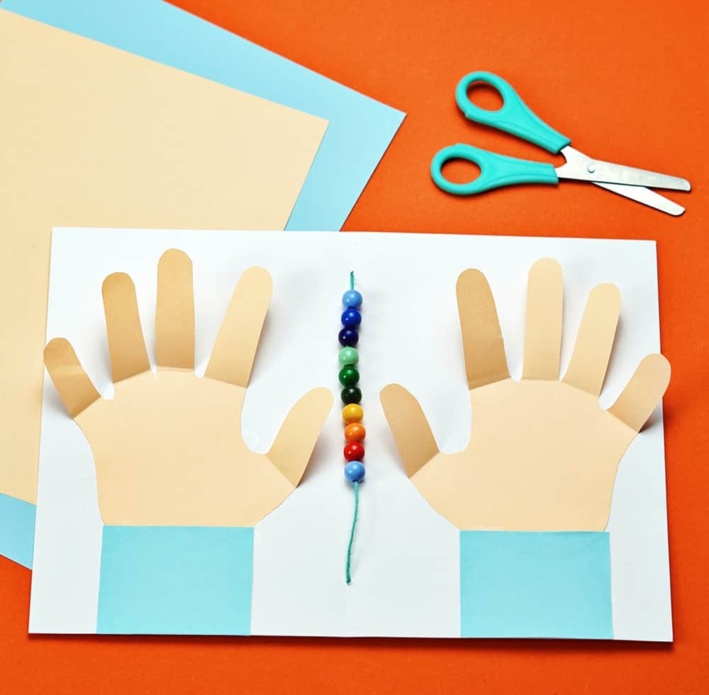counting hands number activity to teach early math