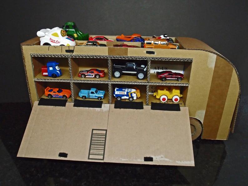 Cardboard Car Garage