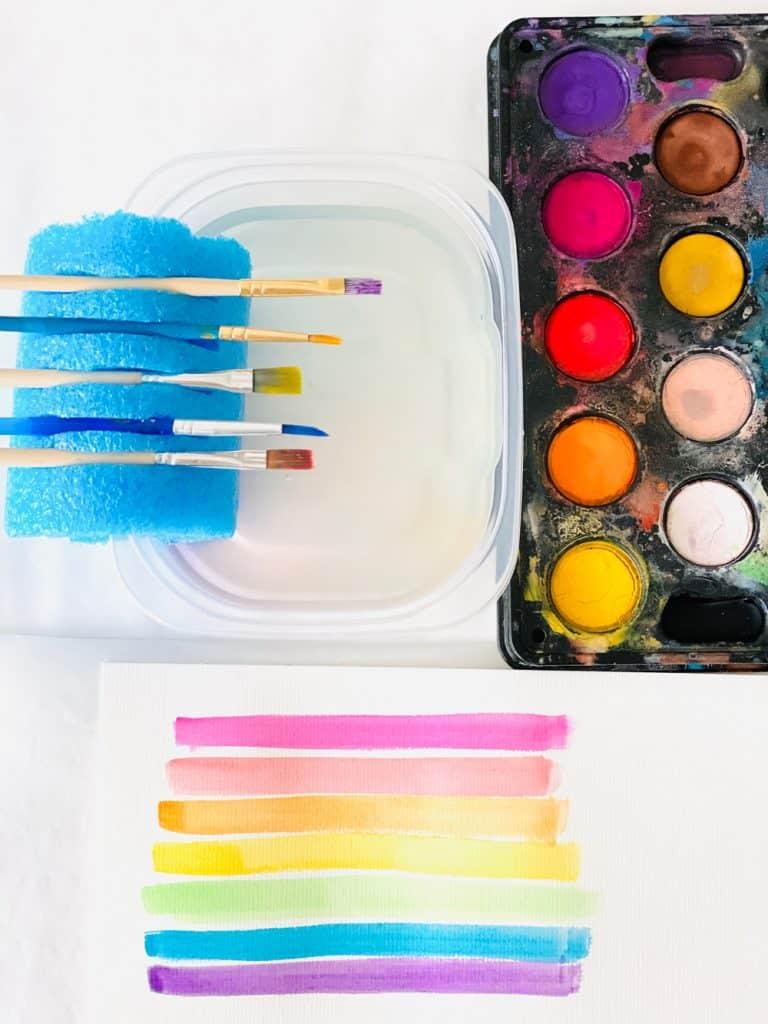 Pool Noodle Paint Brush Hack