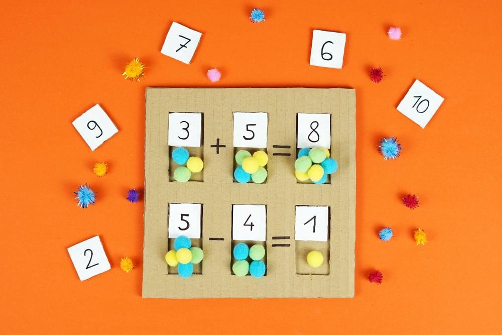 DIY Cardboard Math Learning Board