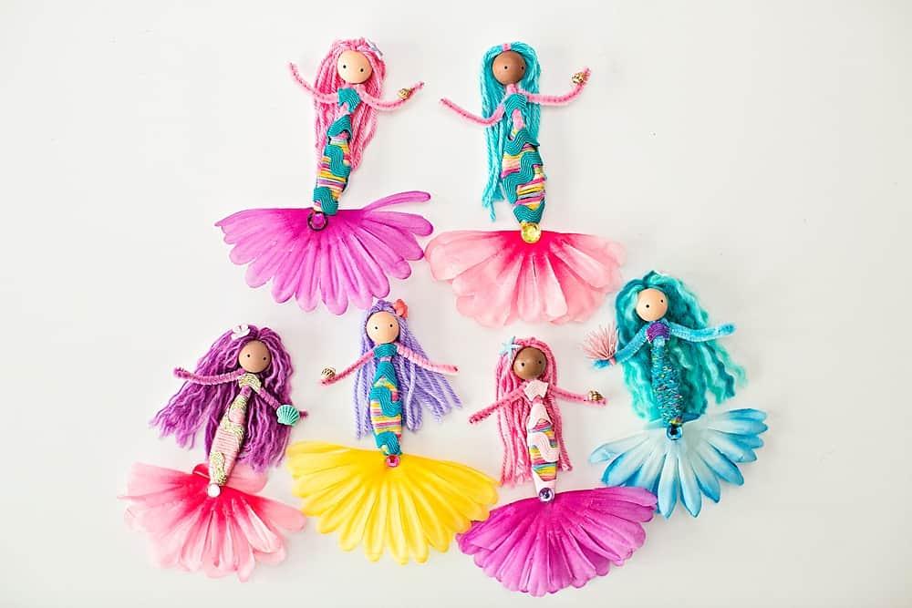 pipe cleaner mermaid dolls
