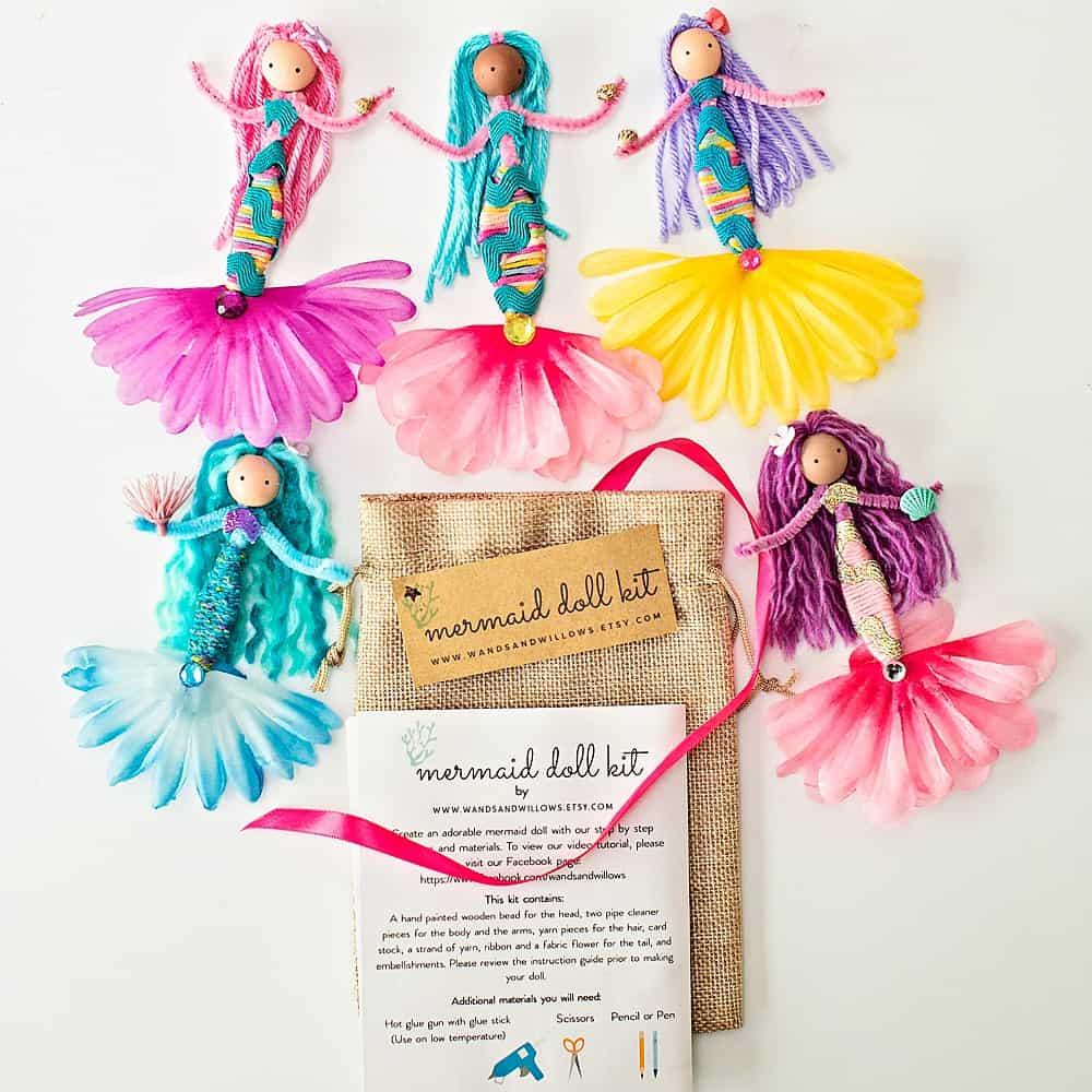mermaid doll kit for kids