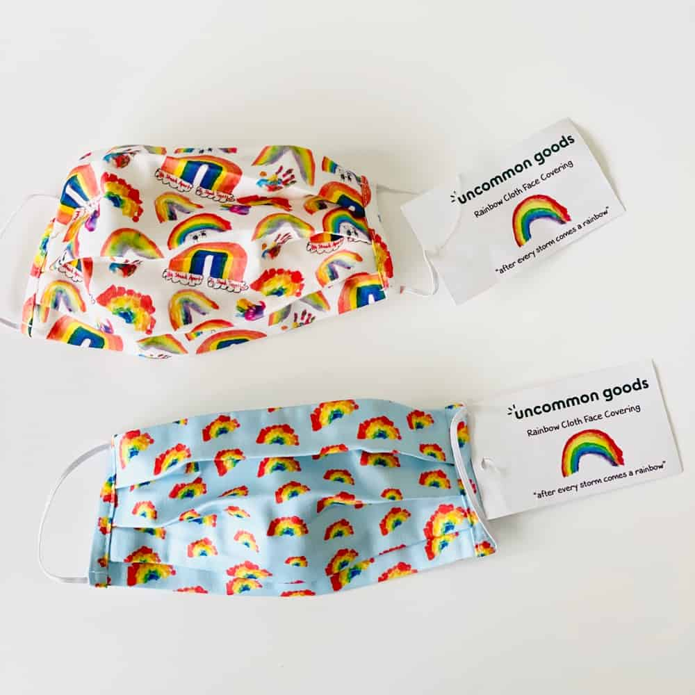 rainbow face masks for kids
