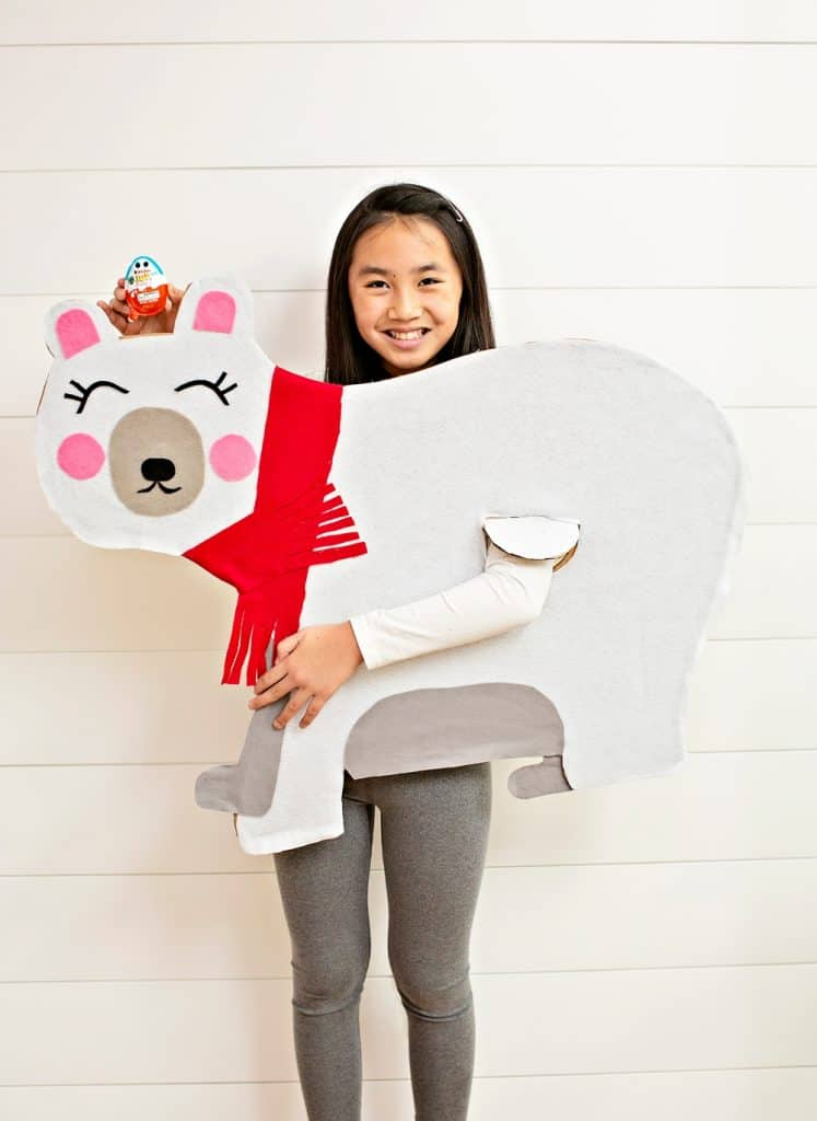 DIY CARDBOARD POLAR BEAR COSTUME