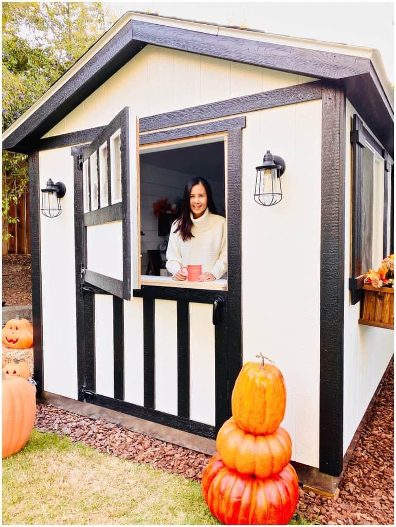 she shed coffee bar modern farmhouse