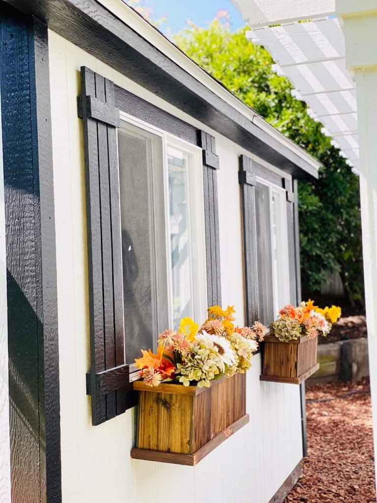 she shed flower window boxes