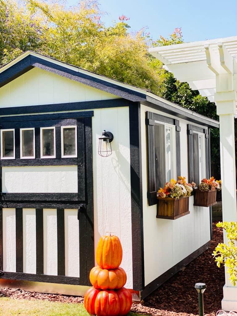 she shed design modern farmhouse