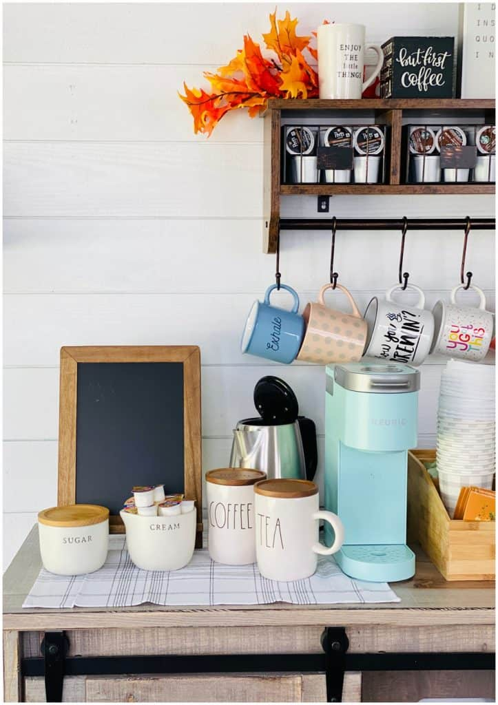 coffee bar design for shed