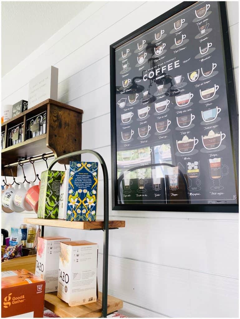 coffee bar print