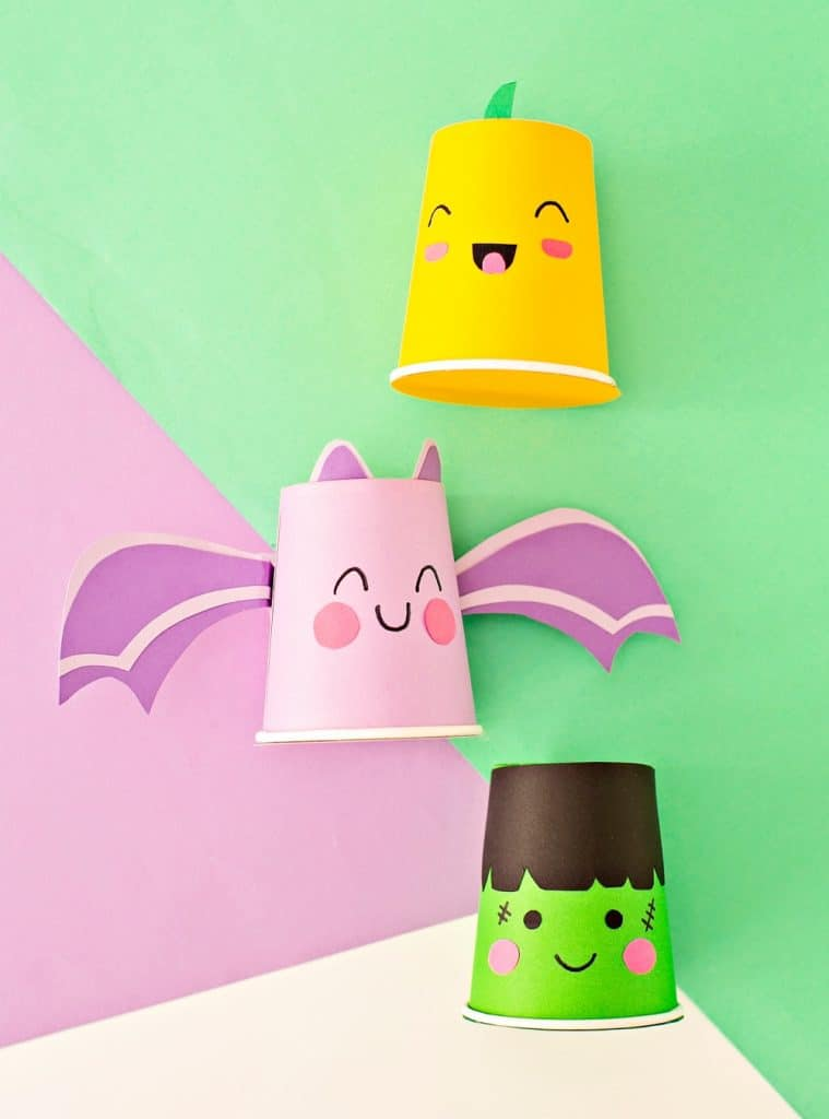 paper cup Halloween Treat favors
