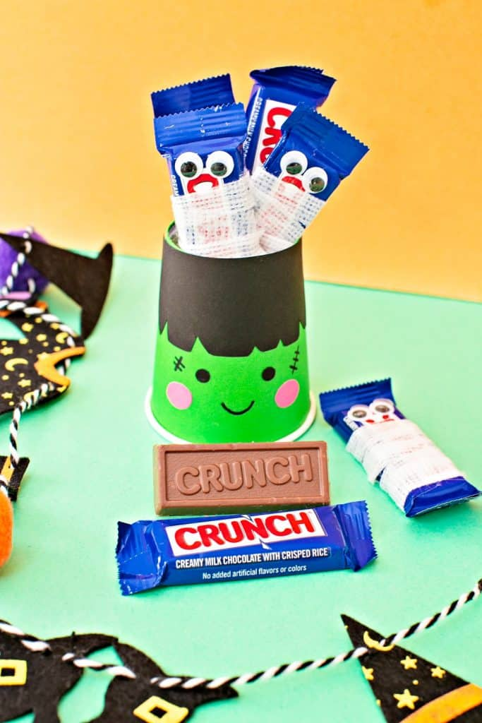 Frankenstein Halloween Candy Treat Cups