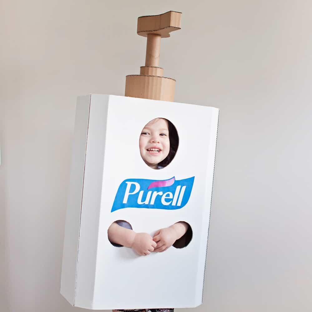 DIY Hand Sanitizer Costume