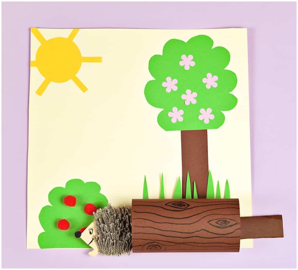 paper hedgehog craft for kids