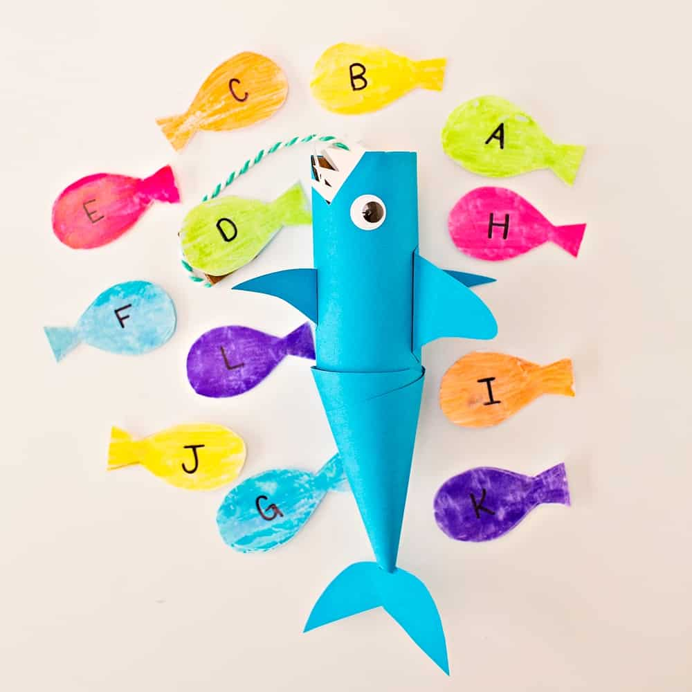 paper tube learning shark craft
