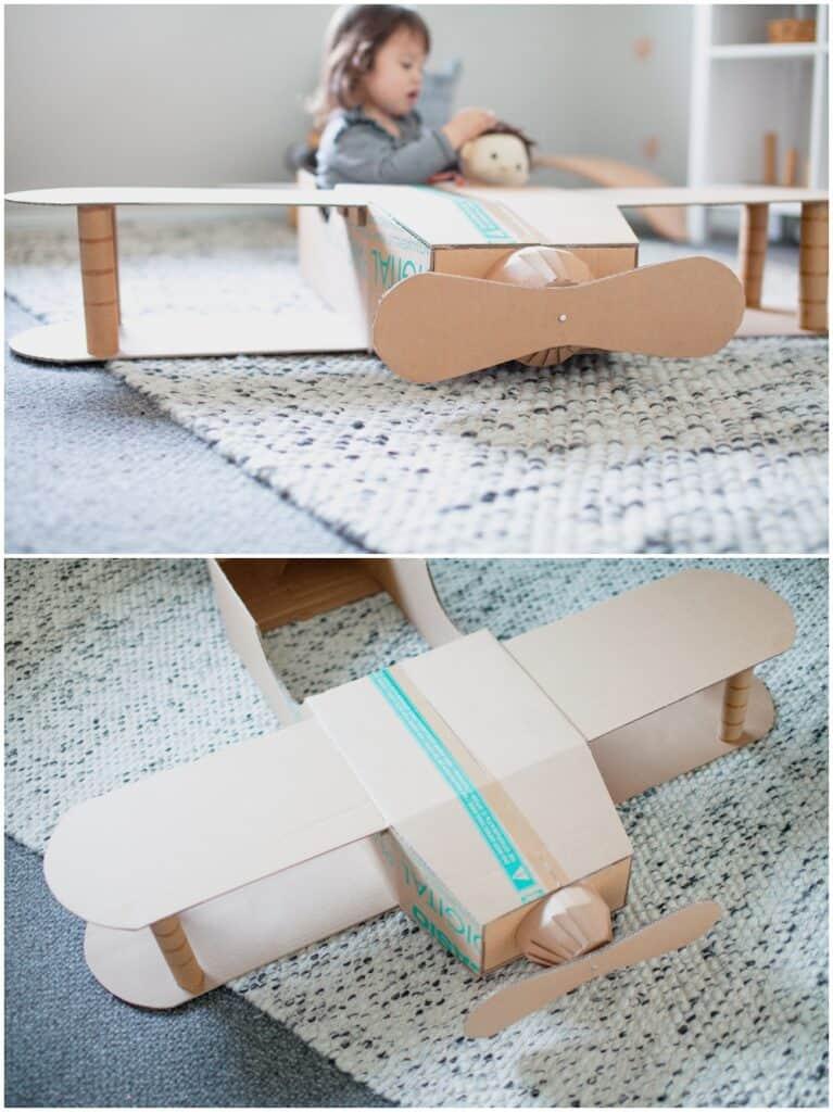 DIY Pretend Play Cardboard Plane or Costume