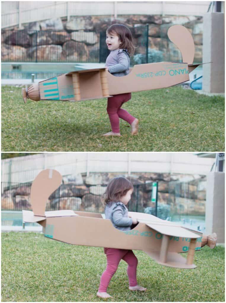 Cardboard Plane DIY Halloween Costume