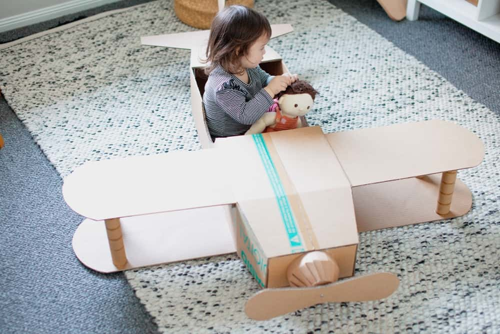 DIY Pretend Play Cardboard Plane or Costume