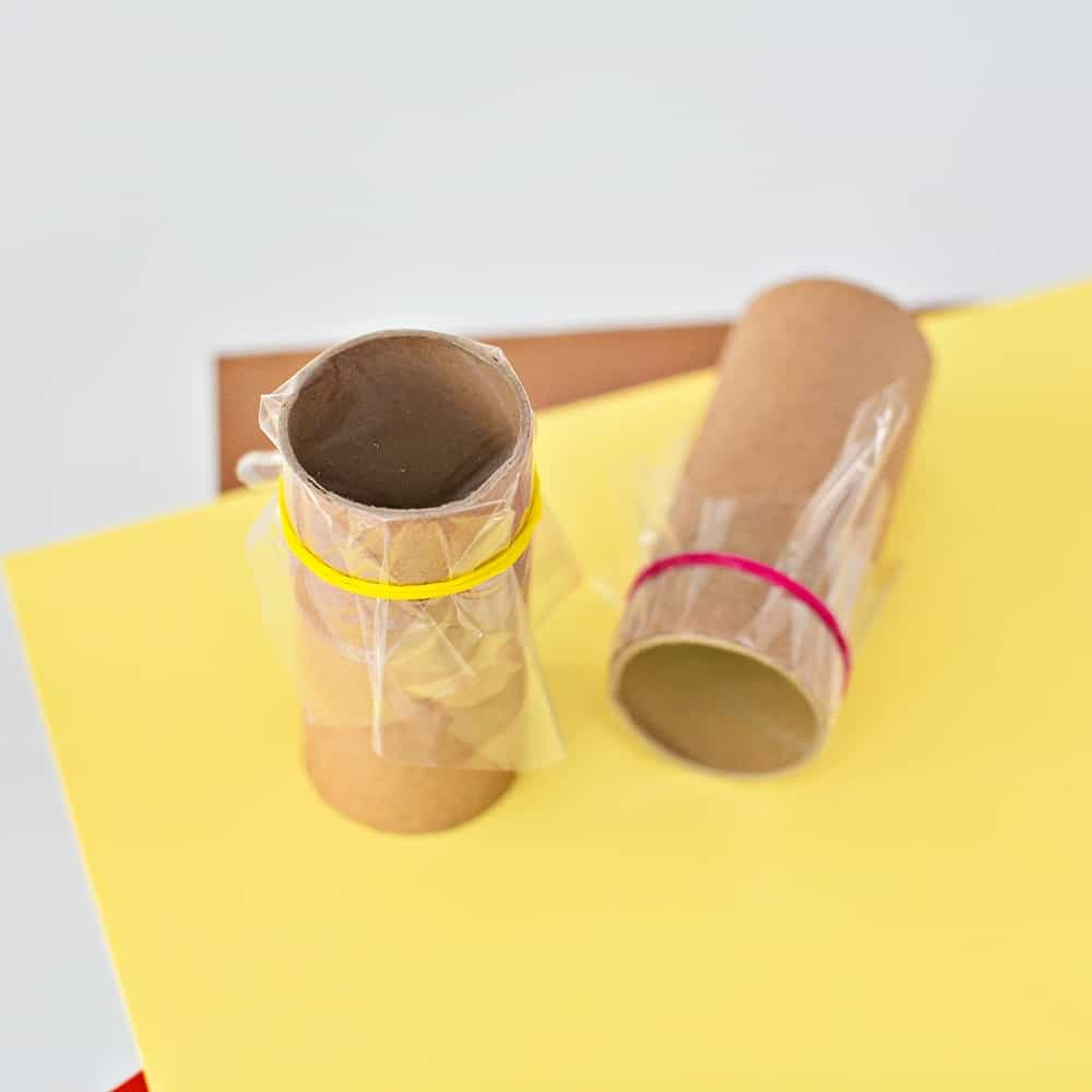paper roll tube projector