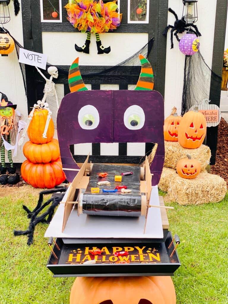 DIY Monster Candy Conveyor Belt Social Distance Trick or Treating