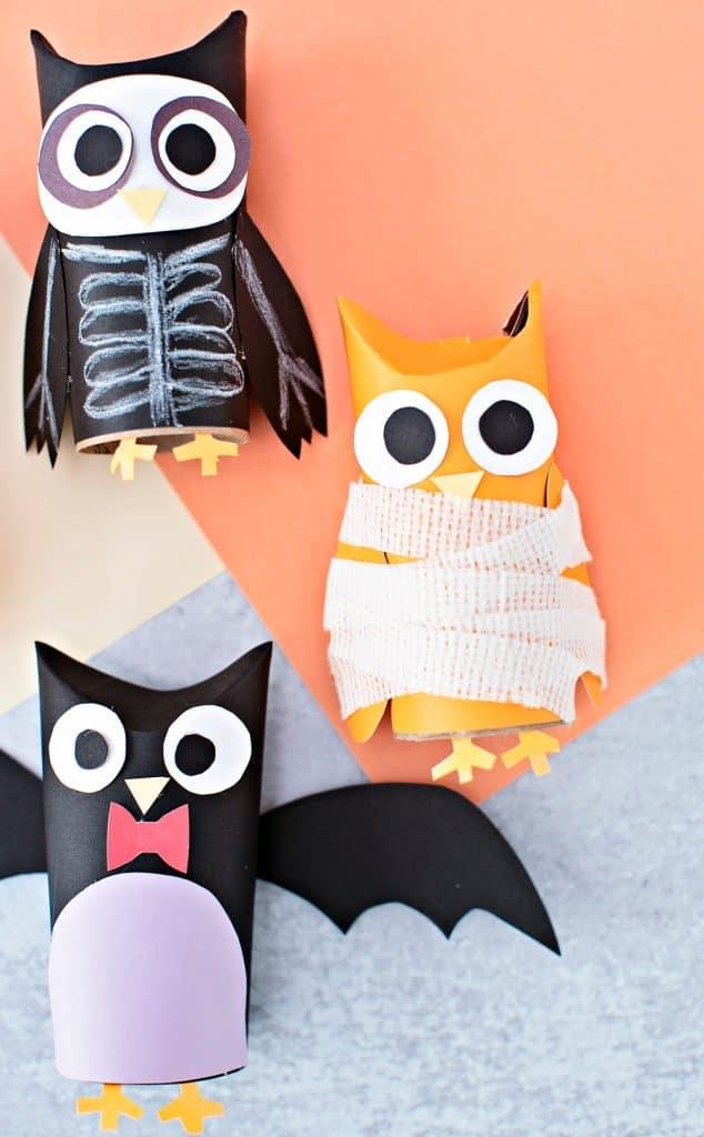 mummy paper tube owl craft