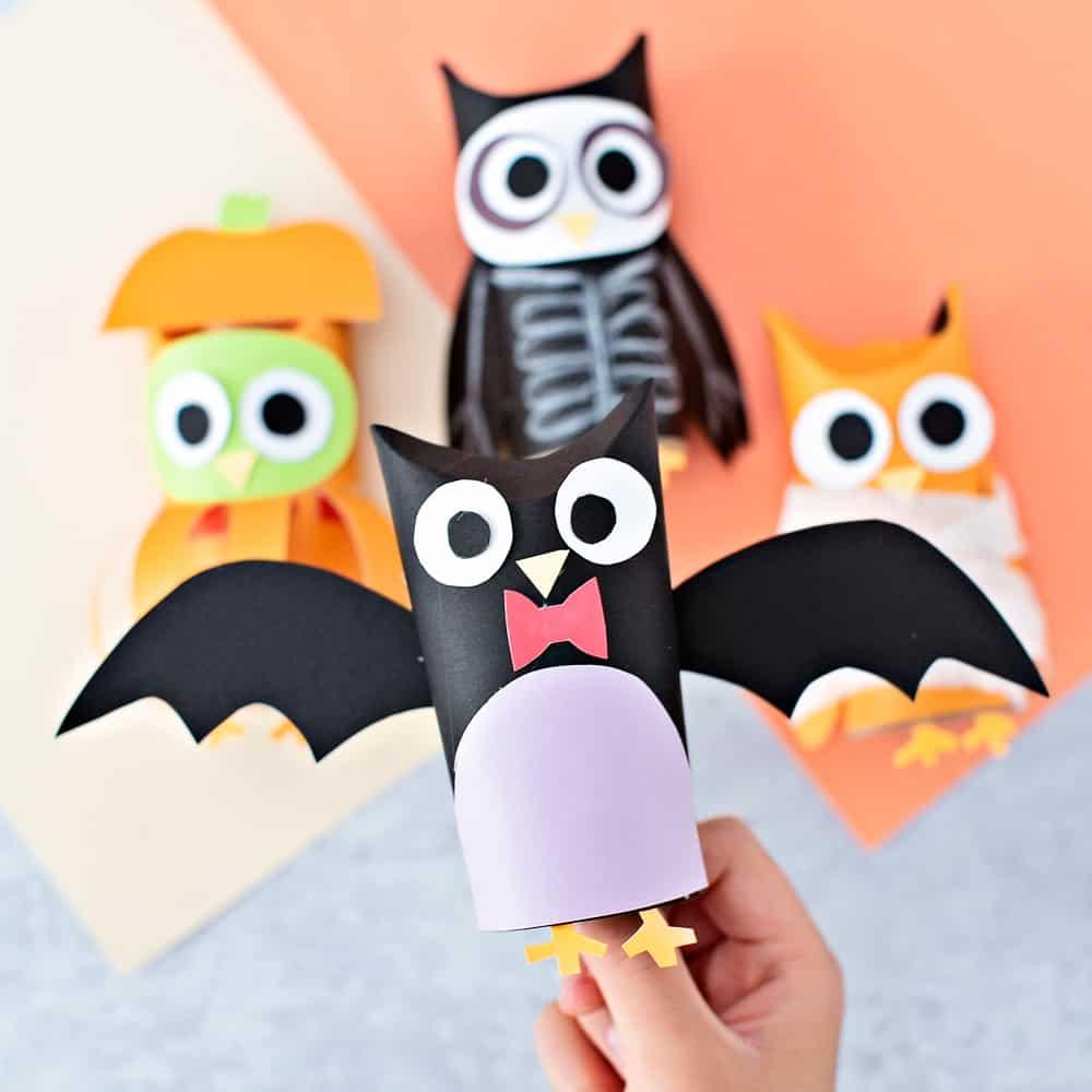 bat paper tube owl craft