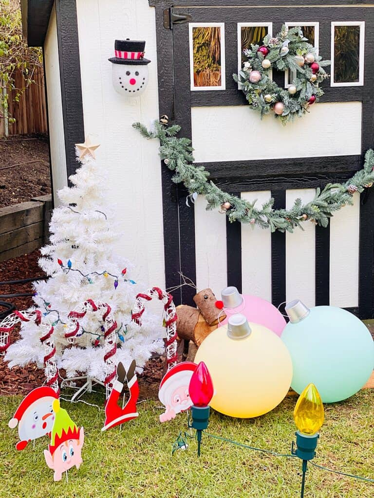 DIY Giant Ornaments made with balloons