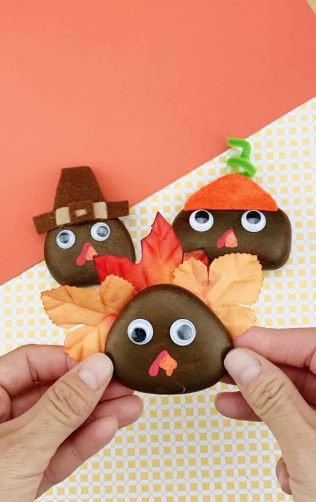 Thanksgiving Turquie Painted Rock Craft