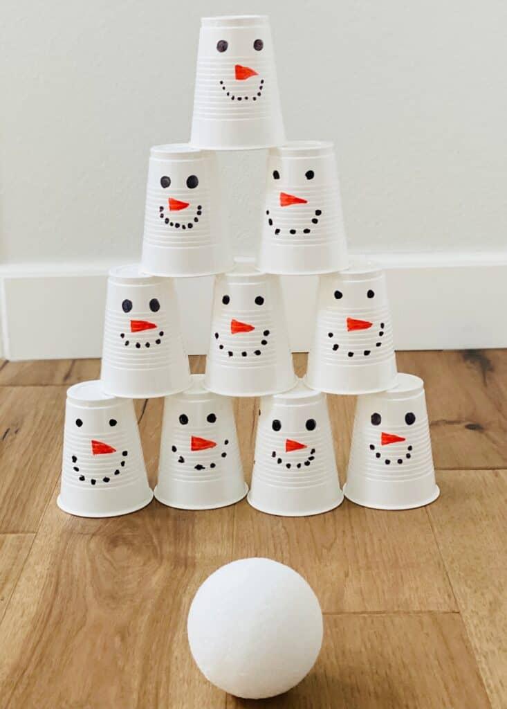 snowman snowball cup game