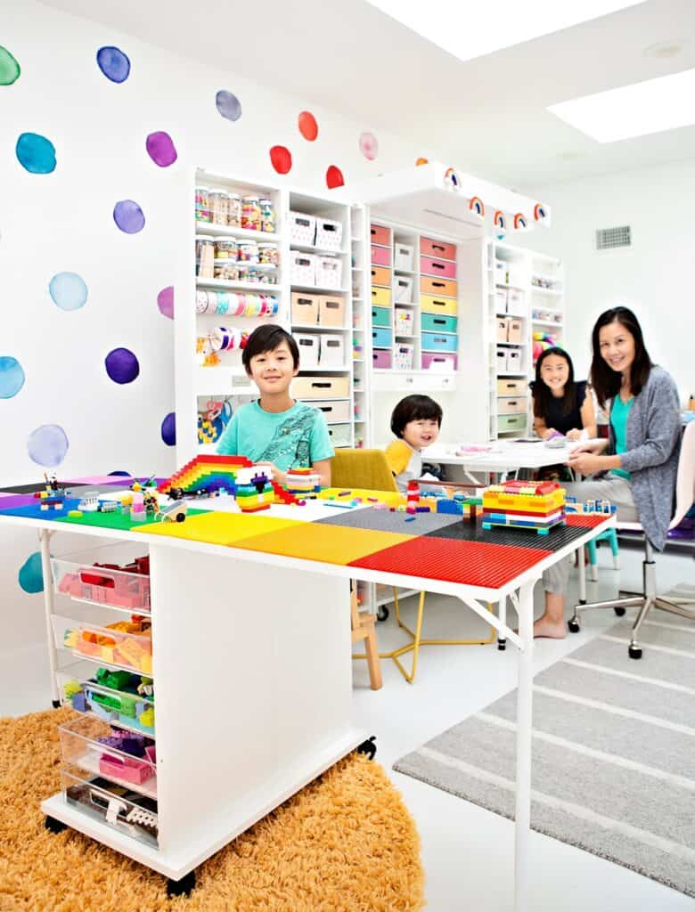 kids craft play room