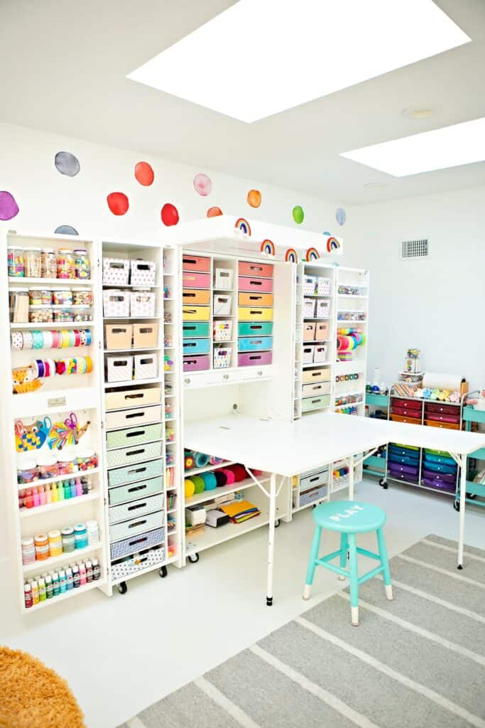 craft room storage featuring dreambox