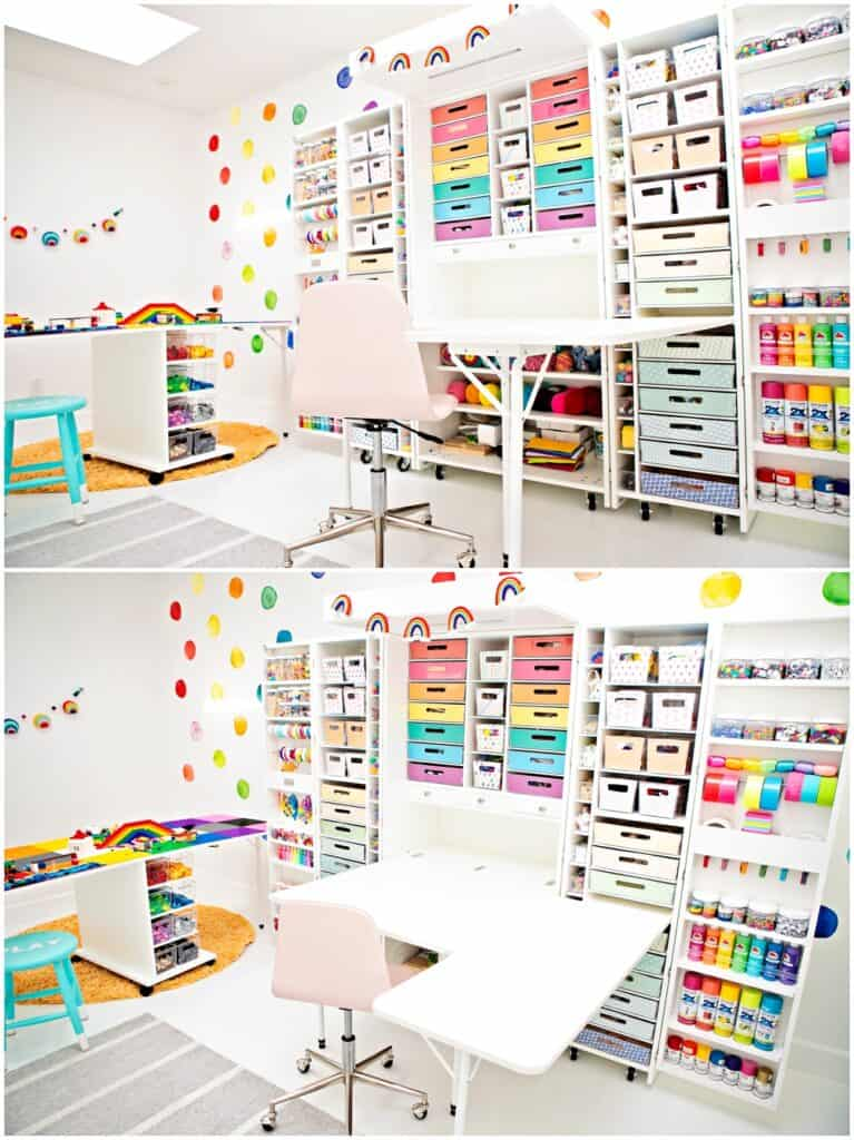 craft room organization using Dreambox