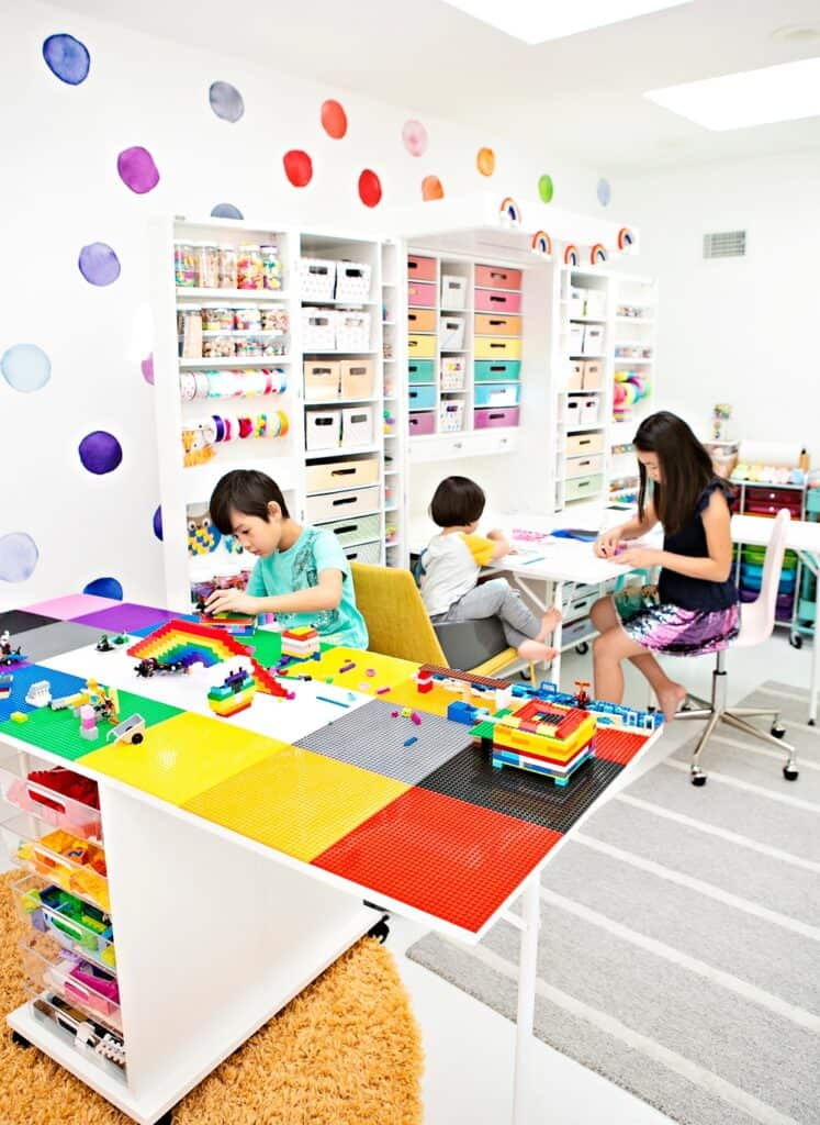 diy lego table craft room