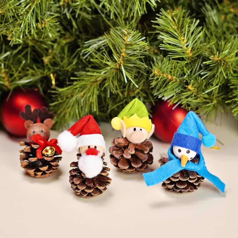 easy pinecone christmas craft