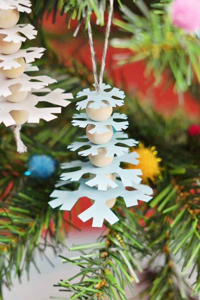 snowflake paper tree craft